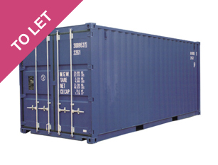 20' storage containers to let in Chorley at just £25/week.